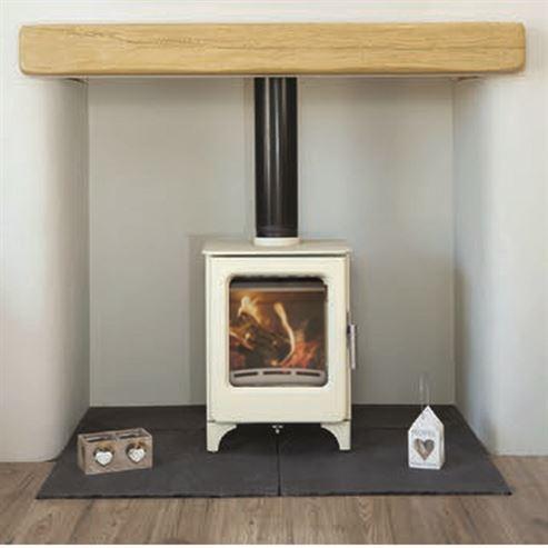 4.7KW The Ashcott Ivory SE Wood burning Stove