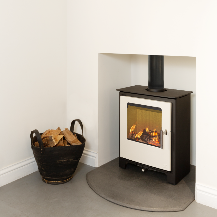 5KW Loxton 5 SE Ivory Multi Fuel Stove