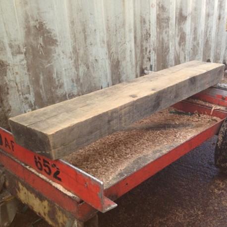 Sawn Oak Mantel Piece - 920mm Length
