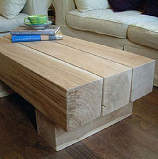 Oak Beam Coffee Tables - 3 Beam Top