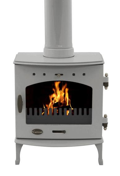 4.7KW Carron Ash Grey Enamel Multi Fuel Stove