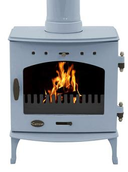 4.7KW Carron China Blue Enamel Multi Fuel Stove