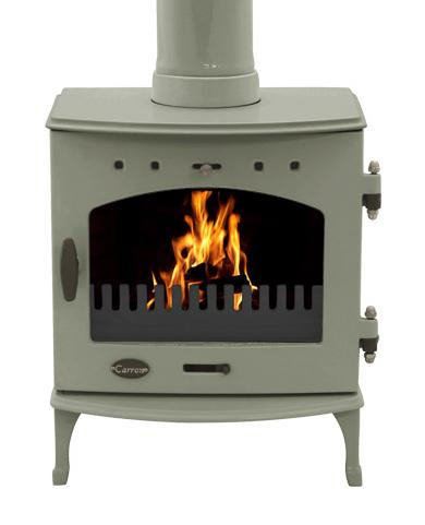 4.7KW Carron Sage Green Enamel Multi Fuel Stove