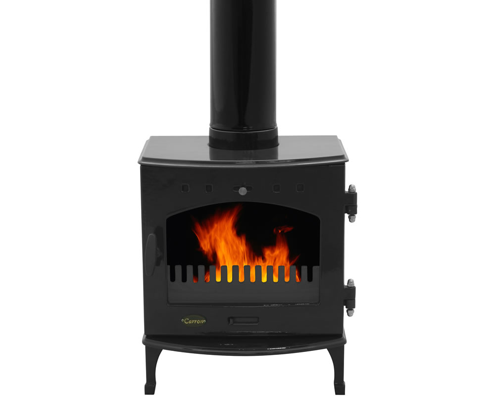 4.7KW Carron Black Enamel Multi Fuel Stove