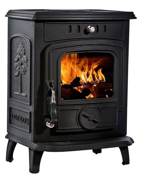 5kW Lilyking 629 Matt Black Multi Fuel Stove