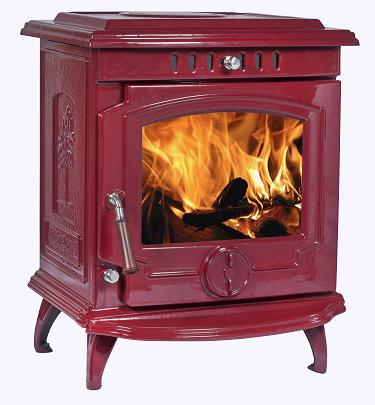 11.5KW Lilyking 657 Red Enamel Multi Fuel Boiler Stove