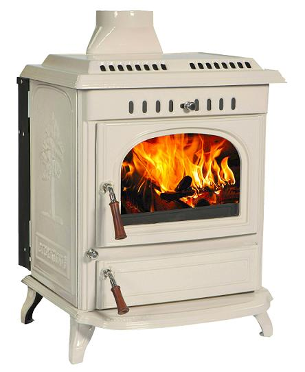 21kW Lilyking 677 Cream Enamel Multi Fuel Boiler Stove