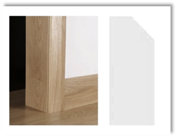 European Oak Architrave Boards - Chamfered