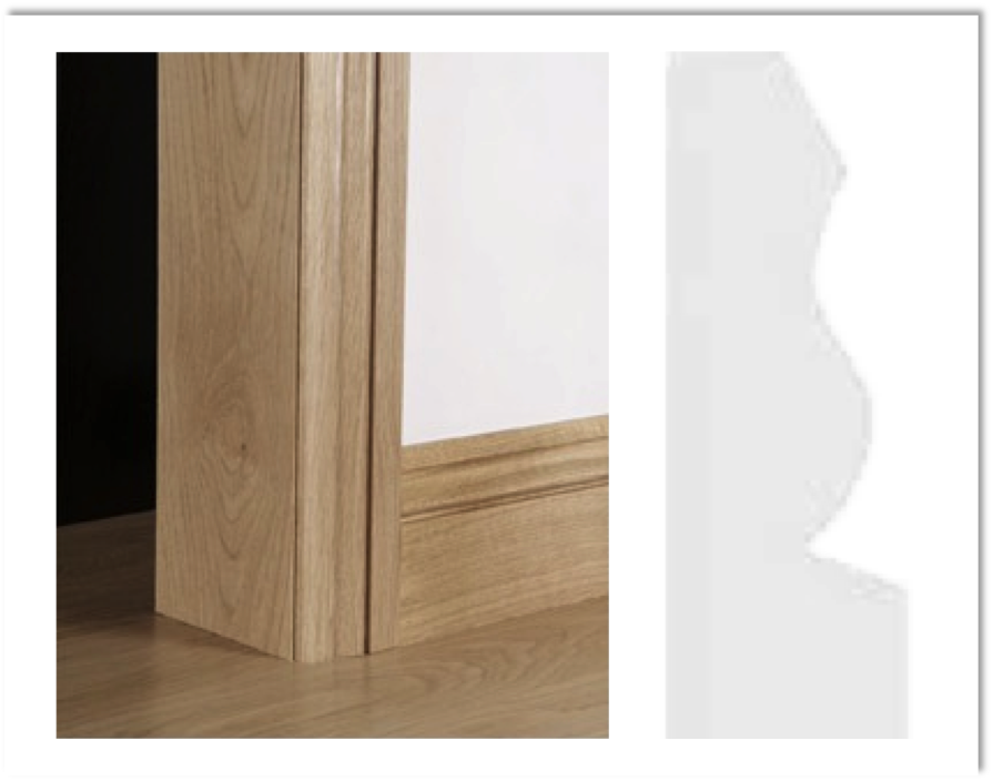 European Oak Architrave Boards - Ogee