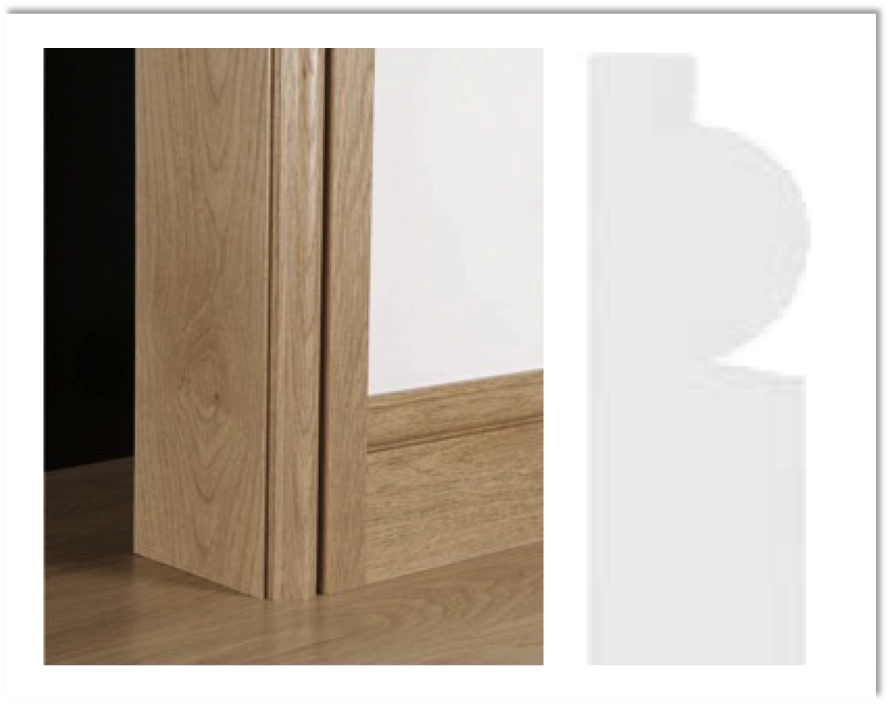 European Oak Architrave Boards - Torus
