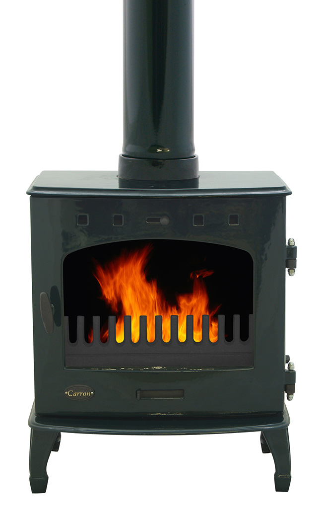 7.3KW Carron Green Enamel SE Multi Fuel Stove