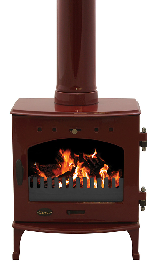 4.7KW Carron Red Enamel Multi Fuel Stove
