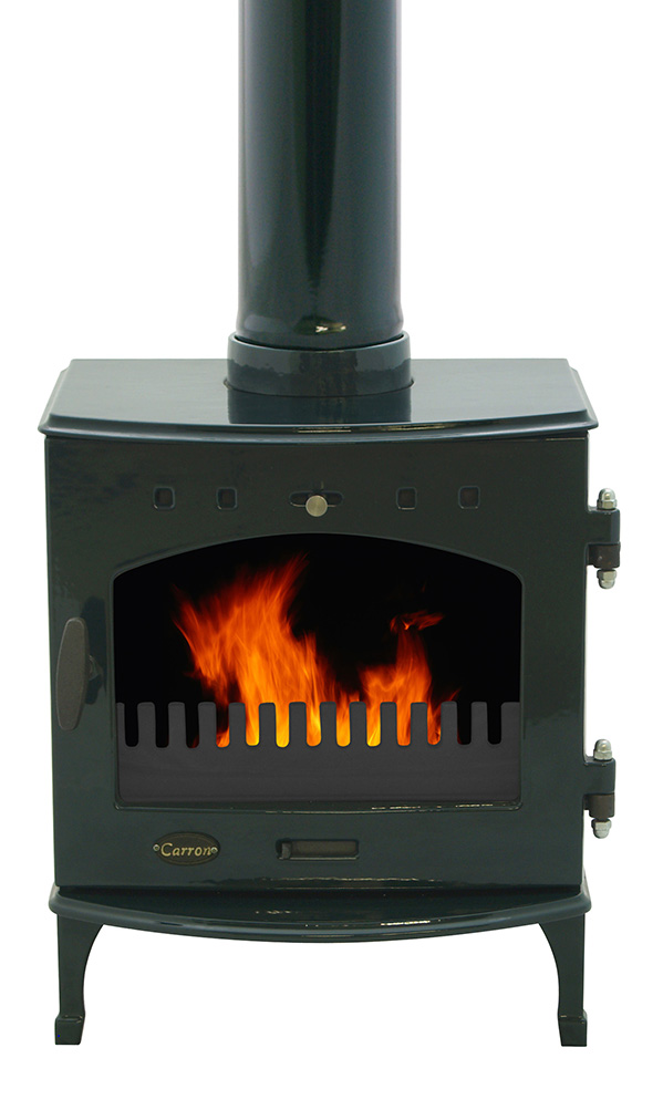 4.7KW Carron Green Enamel Multi Fuel Stove