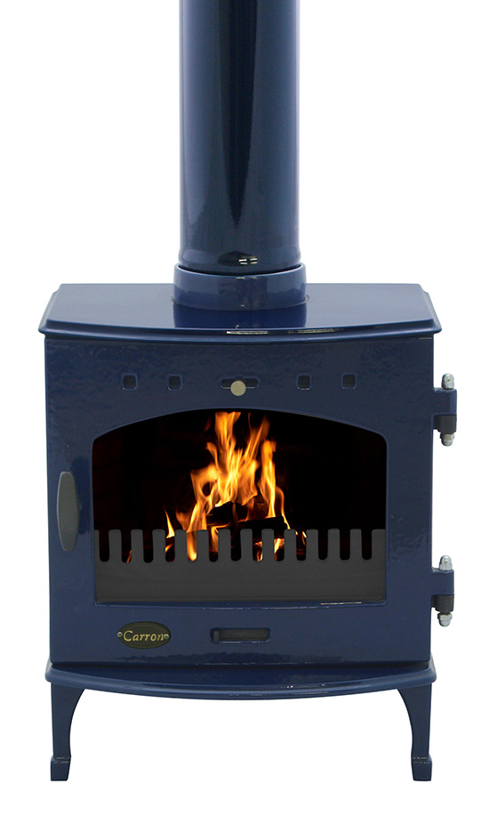 4.7KW Carron Blue Enamel Multi Fuel Stove