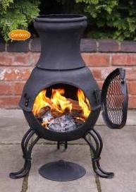 Billie Small Cast Iron Chimenea - SPECIAL OFFER