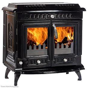 18.5kW Lilyking 667 Black Enamel Multi Fuel Boiler Stove