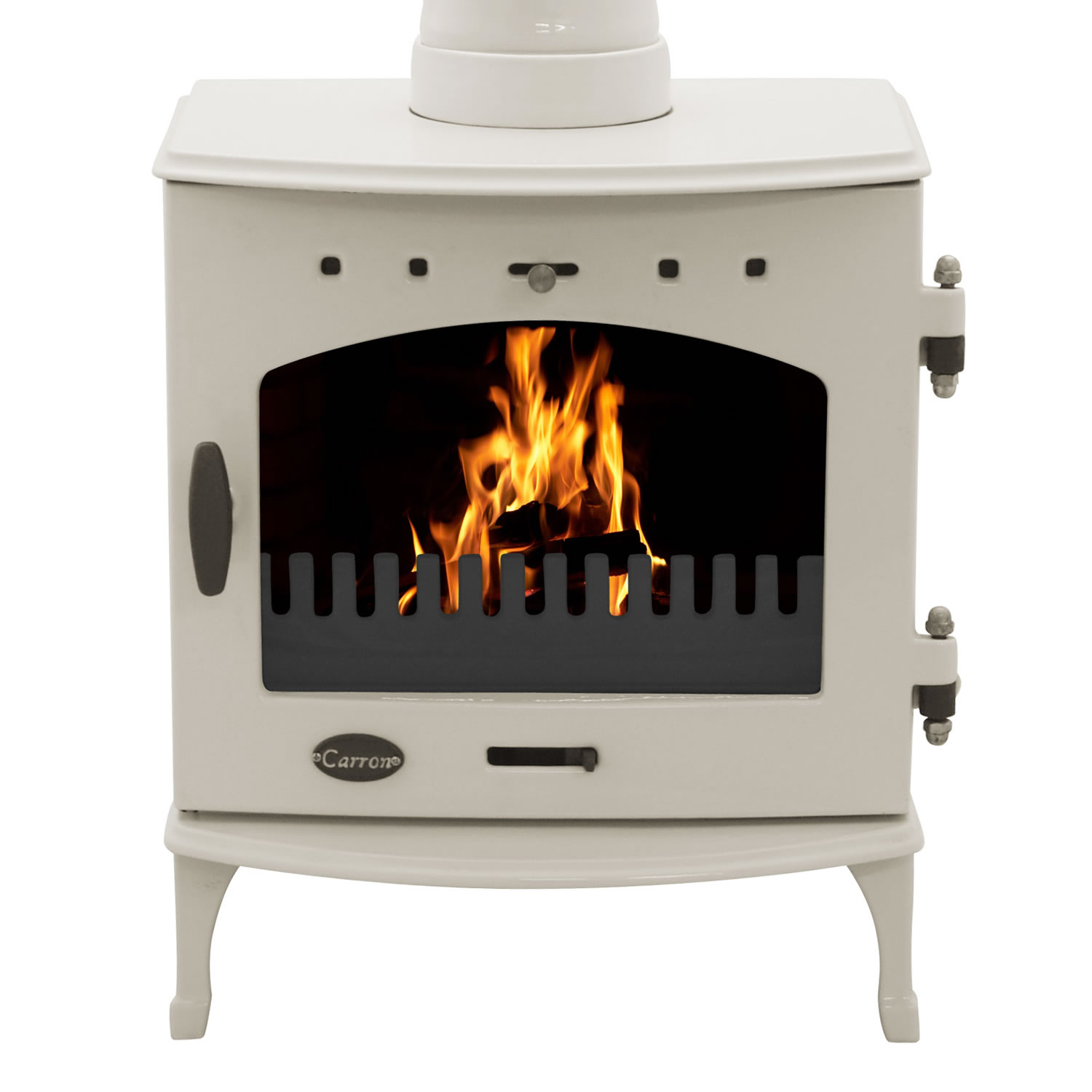 4.7KW Carron Cream Enamel Multi Fuel Stove