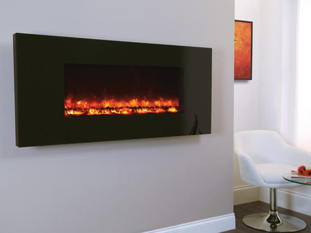 1.5KW Electriflame Piano Black 1100 Electric Fire