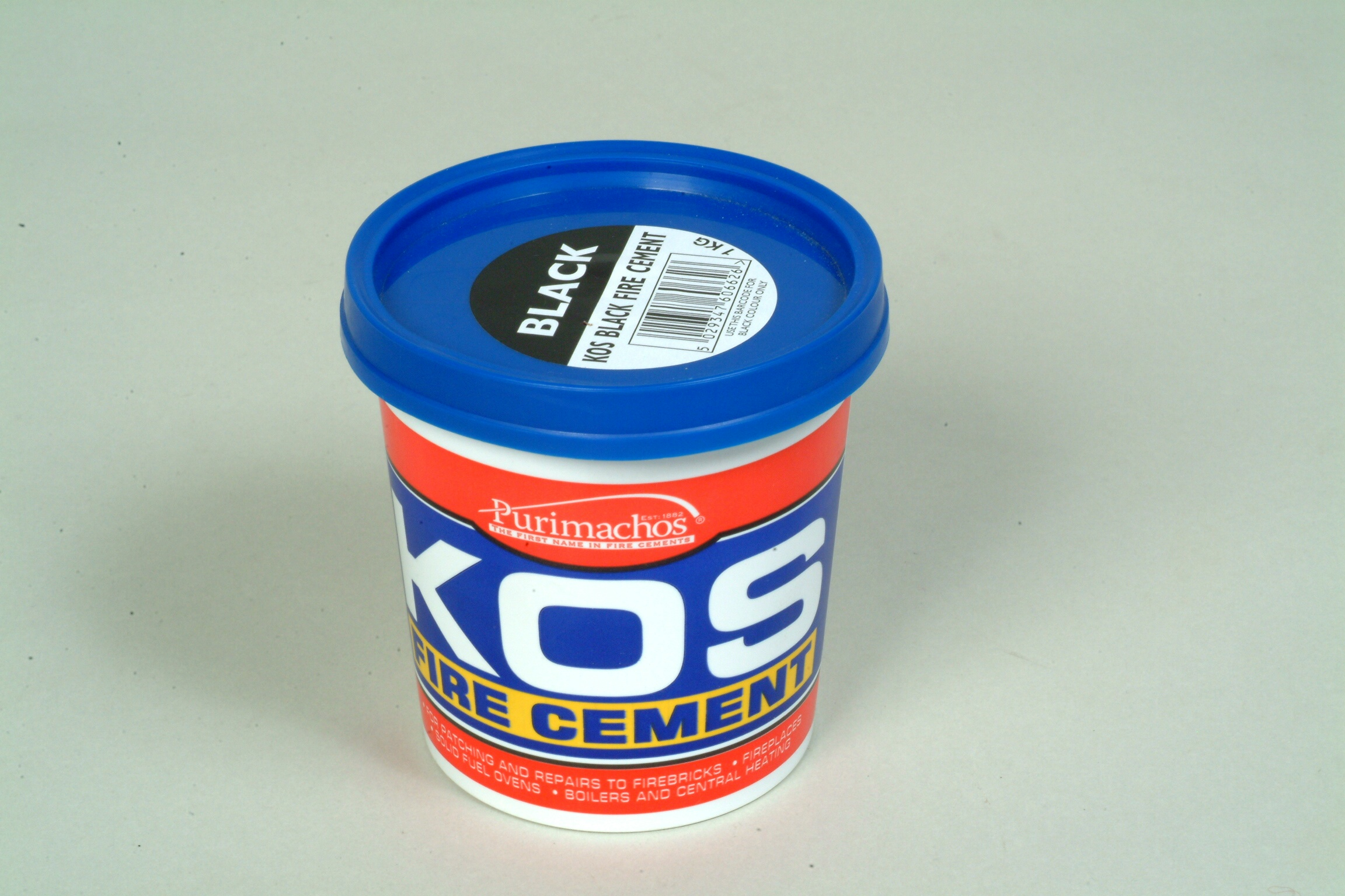Pot Fire Cement 1kg (Black)