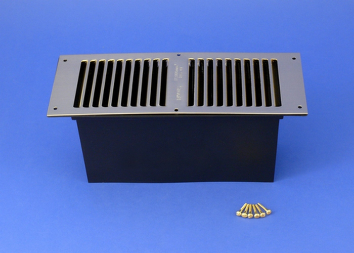 Rytons Floor Ventilator with Brass Louvre Vent