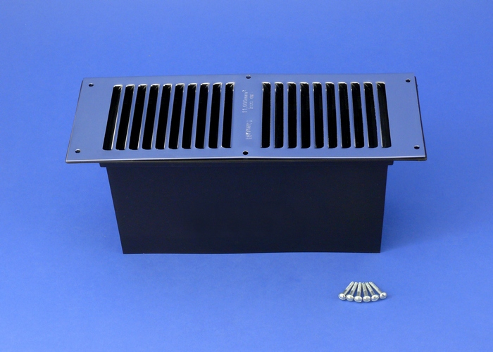 Rytons Floor Ventilator with Chromed Louvre Vent