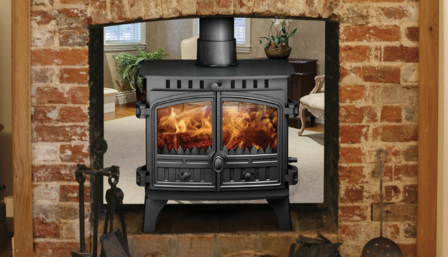 8.9 - 11.5KW Herald 8 Double Sided Multi Fuel Stove