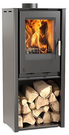 4.9KW i400 Freestanding Tall Multi Fuel Stove - Grey