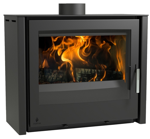 4.9KW i600 Slimline Freestanding Low Flexi Fuel Stove - Black