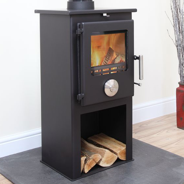 4.8KW Mendip 5 SE Multi Fuel Stove with Log Store