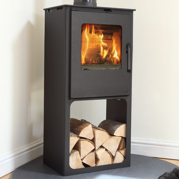 8KW Loxton 8 SE Multi Fuel Stove with Log Store