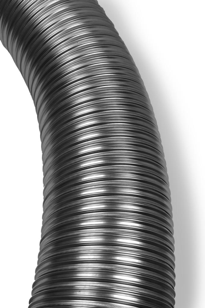 125mm Multi-fuel Flue Liner, 316 Grade