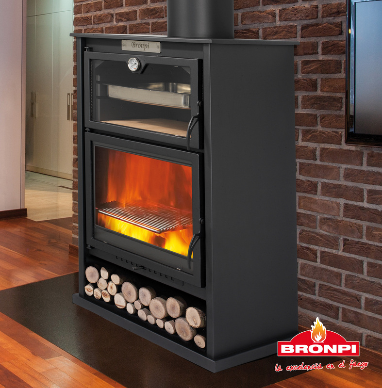 10KW Suiza Woodburning Stove and Oven