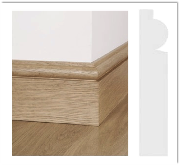 European Oak Skirting - Torus