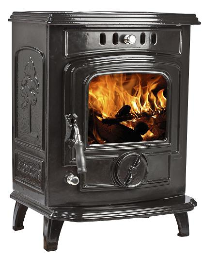 5kW Lilyking 629 Black Enamel Multi Fuel Stove