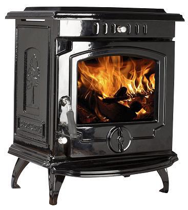 11.5kW Lilyking 657 Black Enamel Multi Fuel Boiler Stove