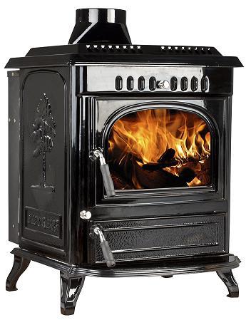 21kW Lilyking 677 Black Enamel Multi Fuel Boiler Stove