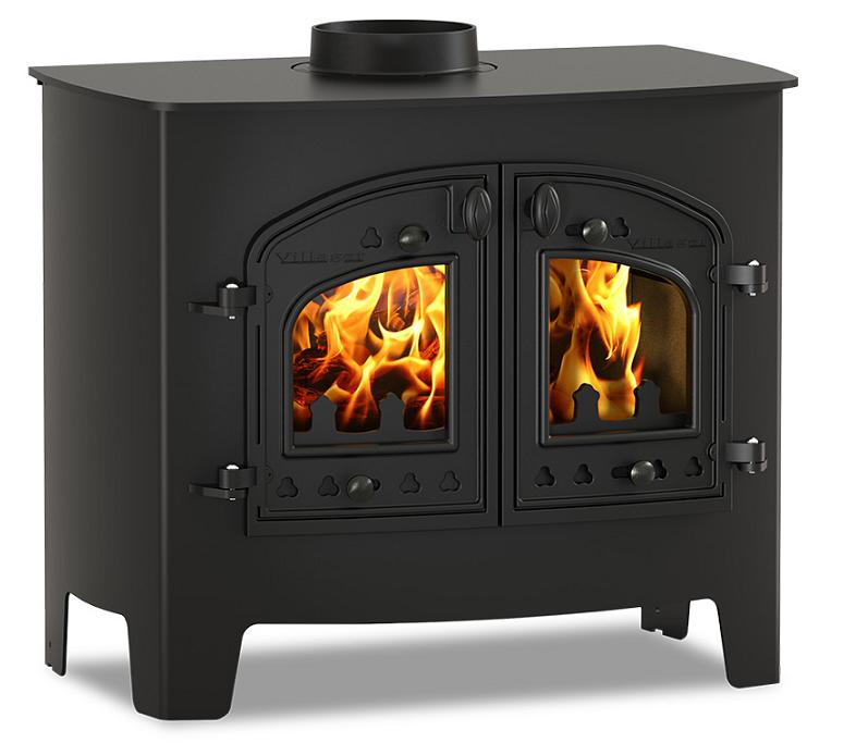 14.4KW Villager A Flat Woodburning Stove