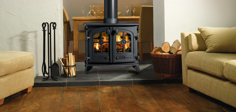 13KW Devon Double Sided Double Depth Woodburning Stove