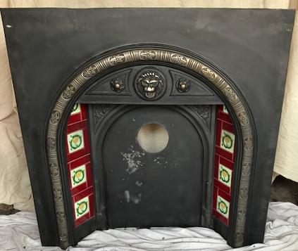 Black Cast Iron Victorian style surround - Preloved