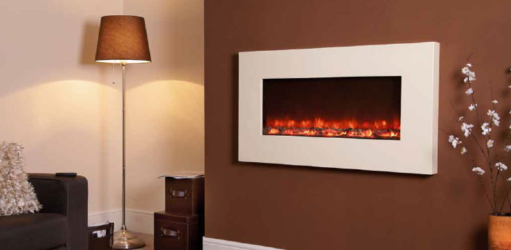 1.5KW Electriflame Ivory 1100 Electric Fire