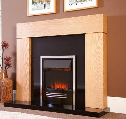2KW Accent Infusion in Black Electric Fire
