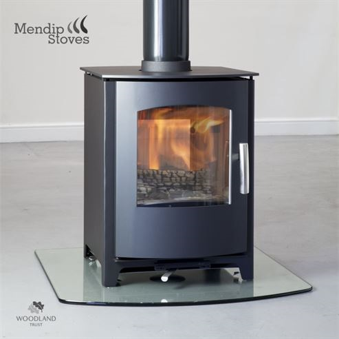 8KW Churchill 8 Double Sided Multi Fuel Stove