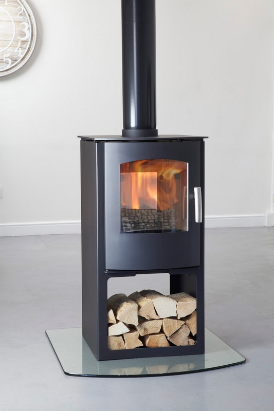 8KW Churchill 8 Double Sided Logstore Multi Fuel Stove