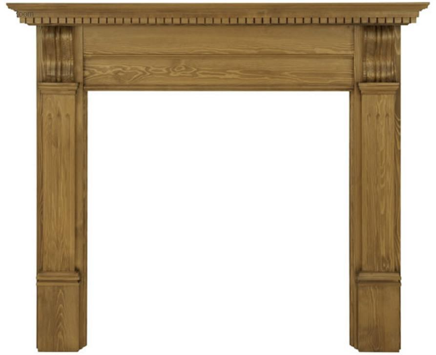 Corbel Pine Fireplace Surround