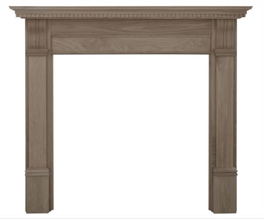 Corbel Wide Oak Fireplace Surround