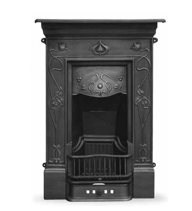 The Crocus Cast Iron Combination Fireplace