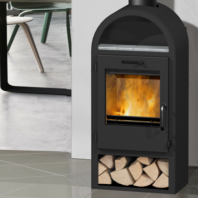 6KW Danburn Laeso Woodburning Stove - Modern Wood Burning Stoves Excellent Value Wood Burning Stoves