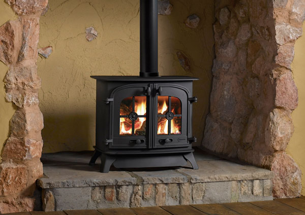 4.8KW Dartmoor Conventional Flue 2 Door Gas Stove with Remote - EX DISPLAY