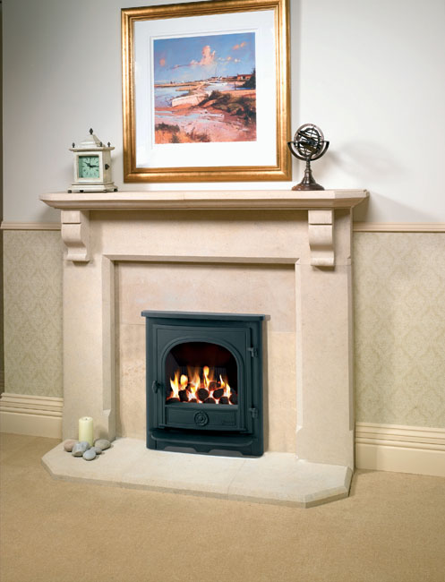 Log Burner Effect Fires Part - 19: 4.27KW Dartmouth Inset Conventional Flue Gas Stove