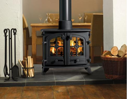 8KW Exe Double Sided Double Depth Multi Fuel Stove